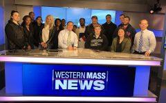 AIC students visit Western Mass News