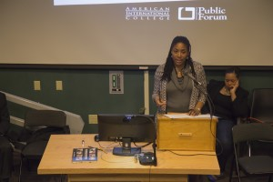 Smith College Professor Dr. Riché Barnes explains details of her research on African-American women and their survival strategies for young black men.