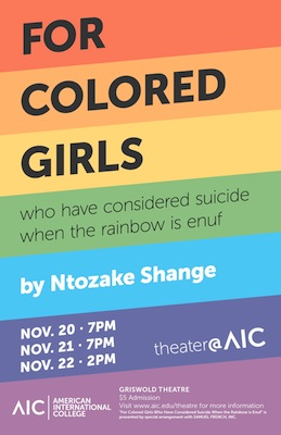 'For Colored Girls:' AIC Theater's Second Fall Production