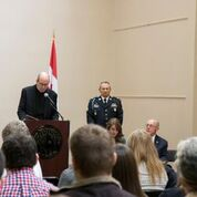 Campus Chaplain Fr. John McDonagh offered a prayer for all veterans.