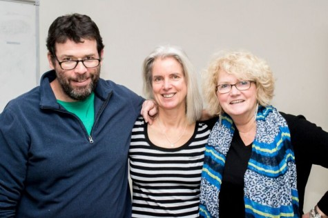 AIC Prof. Patrick Johnson, author Suzanne Strempek Shea and AIC Prof. Mary Ellen Lowney