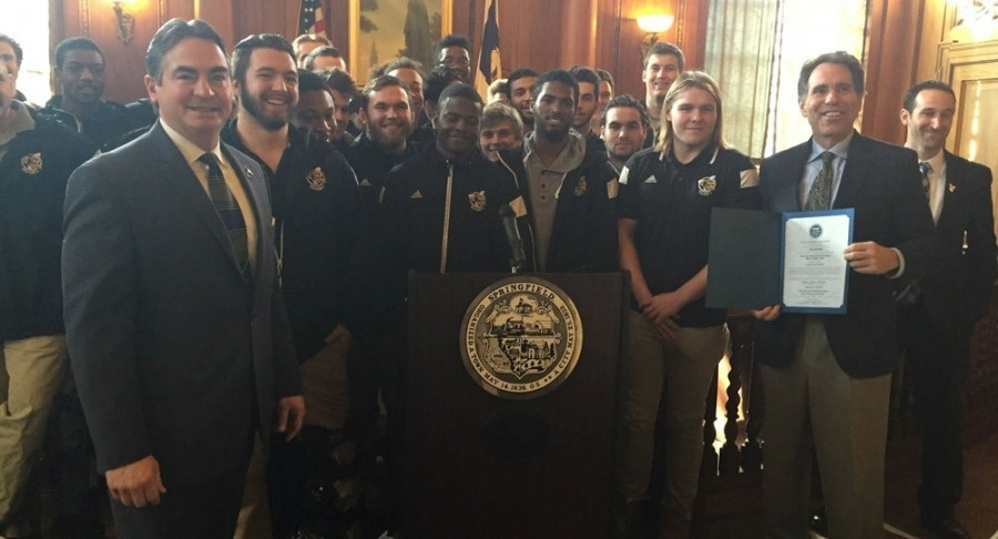 AIC Men's Rugby Honored at City Hall