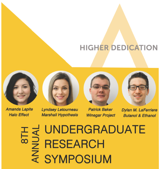Poster for the 8th annual Undergraduate Research Symposium (Designed by Leon Nguyen)