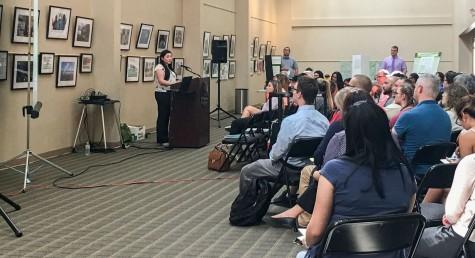 Amanda Lapite presents at the Symposium.