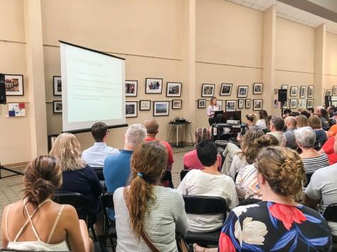 Lyndsey Letourneau presents at the Symposium.