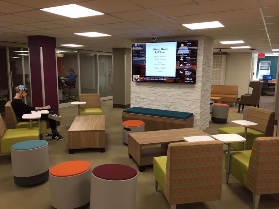 New seating in the Learning Commons.