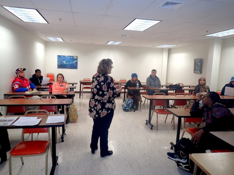 Candy Lash speaks to AIC's Public Relations class.