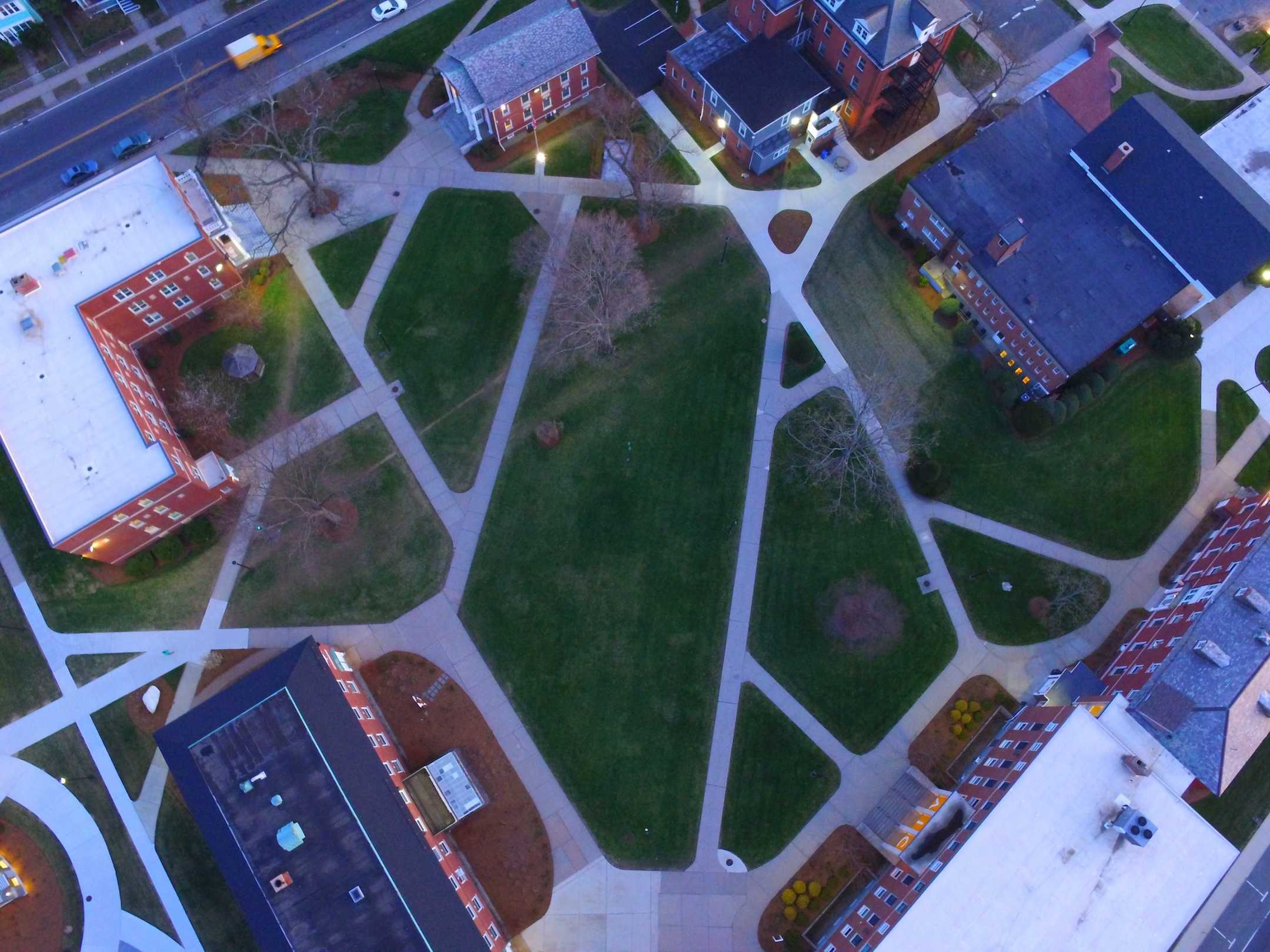 An aerial view of AIC, courtesy of Zach Bednarczyk's drone.
