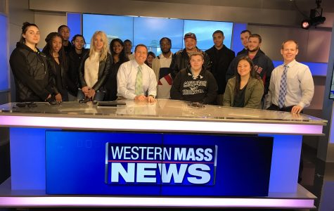 AIC students visit Western Mass News