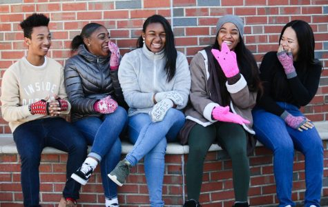 AIC Students Model Mittens to Raise Money for the ACLU