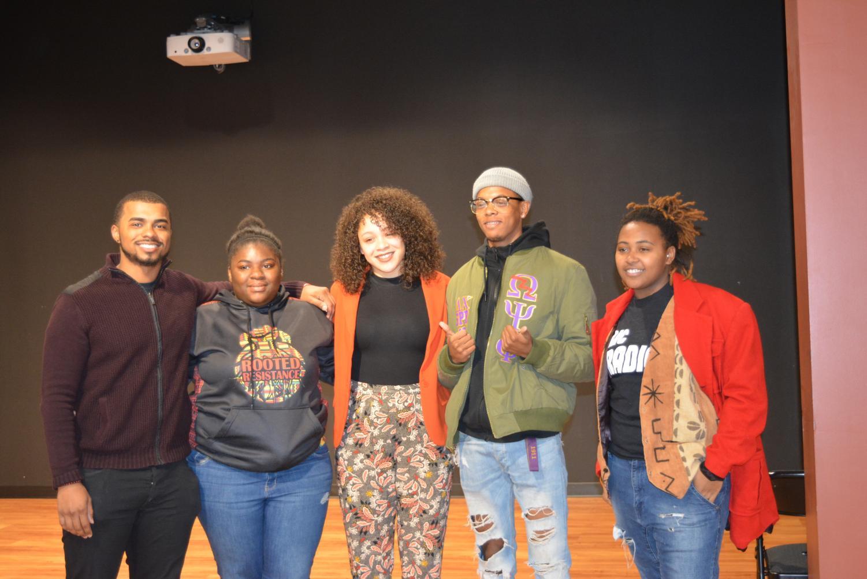 L-R: Kyle Boyer-Tucker, Kei'Shairra Jackson, Alicia McKenzie, Kendall Streeter and Samira Abdul-Karim.