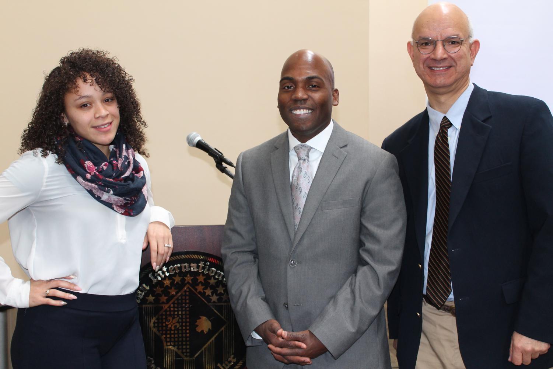 L-R: Alicia McKenzie (AIC's Assistant Director of Diversity Education), Dr. Yohuru Williams, Professor Gary Jones (Professor of History at AIC)