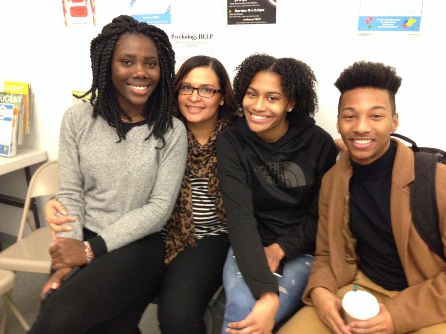 L-R: Wahjerjay Blango, Gracendy Mesamours, Dahsia Middlebrooks, and Justin Lipscomb