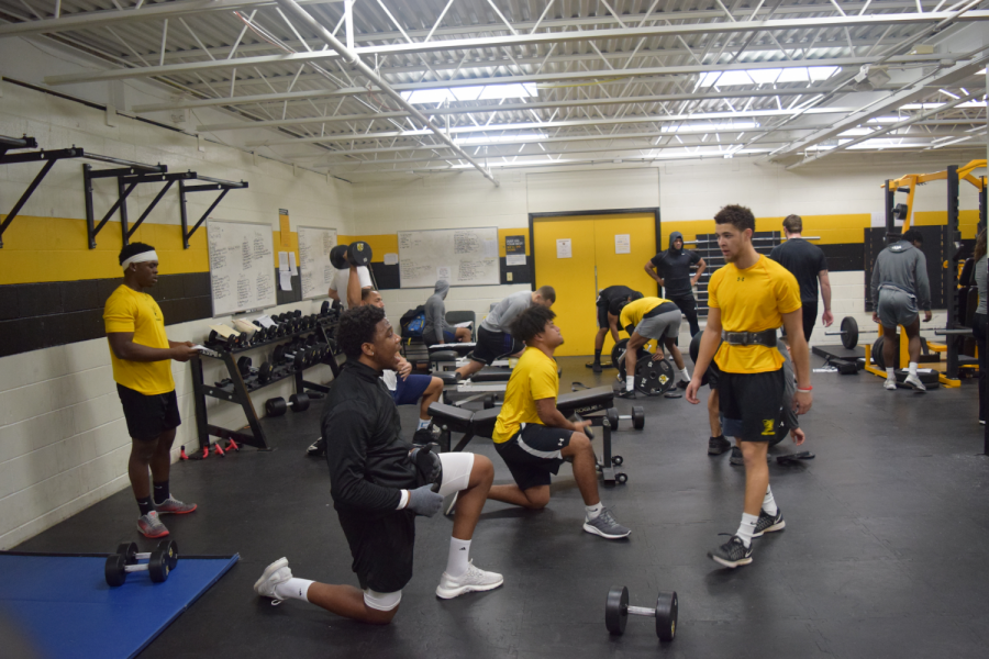 Daily workouts in the AIC gym
