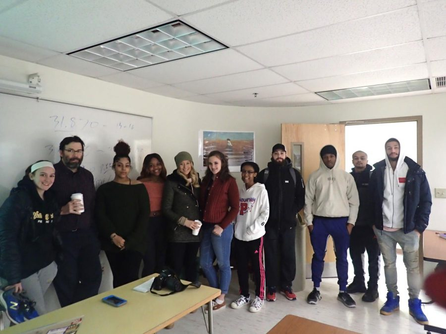 Veteran journalist and AIC Professor Patrick Johnson visits the Journalism class