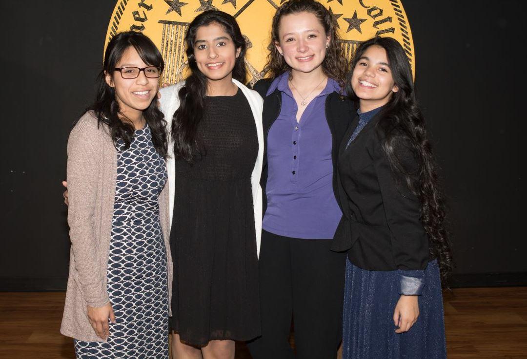 L-R:  Aneida Molina, Aamna Shahid, Elisheva Milov, &  Meliany Gonzalez-Guadalupe.