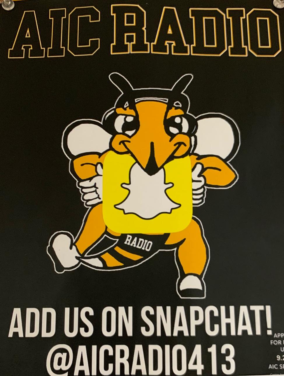 Follow the Radio Club @aicradio413 on Snapchat