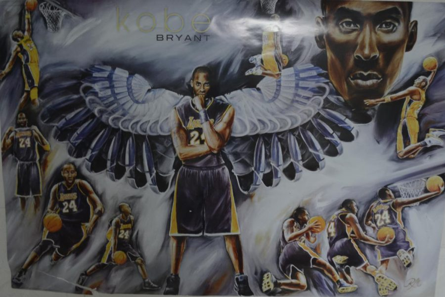 Kobe Bryant poster in AIC student dorm room
