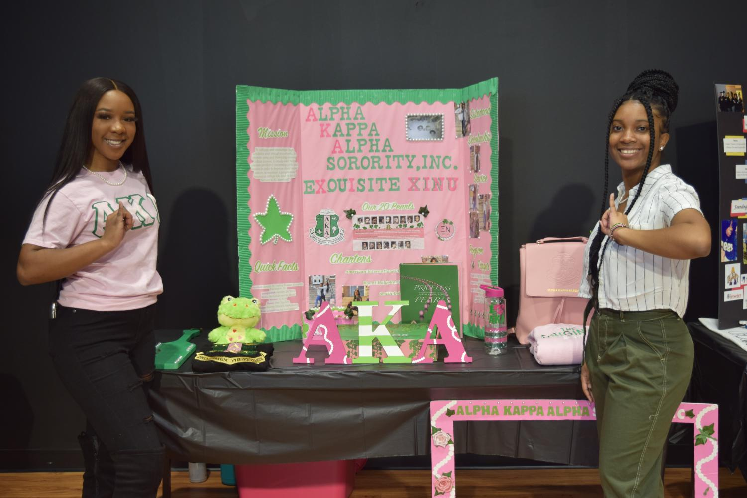 A picture of the Alpha Kappa Alpha Sorority, INC. at the Engagement Fair, 2020