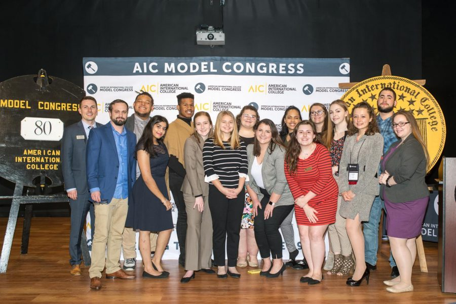Model Congress staff at the awards banquet.