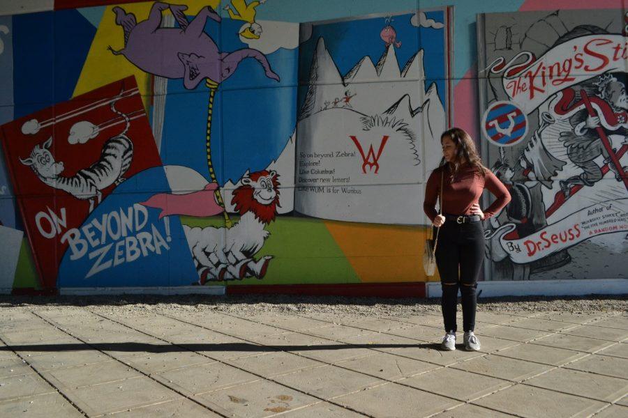 On Beyond Zebra! With AIC Student Jordyn Dewinkeleer, pictured by AIC Senior